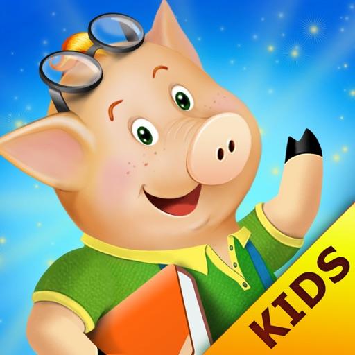 The three little pigs - preschool & kindergarten fairy tales book free for kids