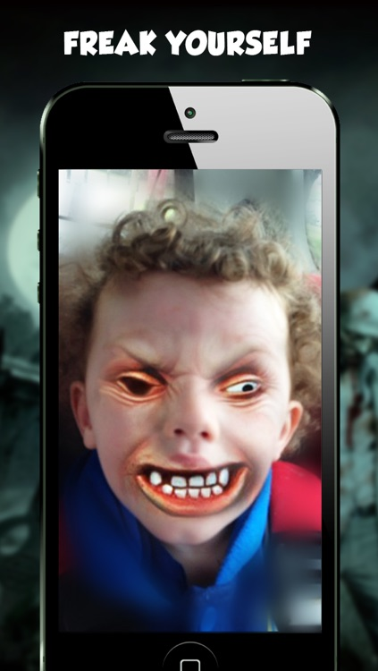 Freaky Face - Zombie Camera Pic Booth Editor Prank screenshot-1