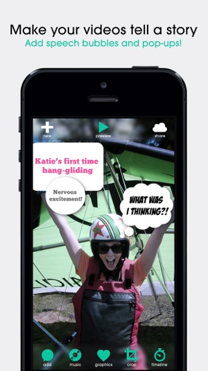 Pop video movie editor for subtitles speech bubbles and music in iphone ipad ccuart Image collections