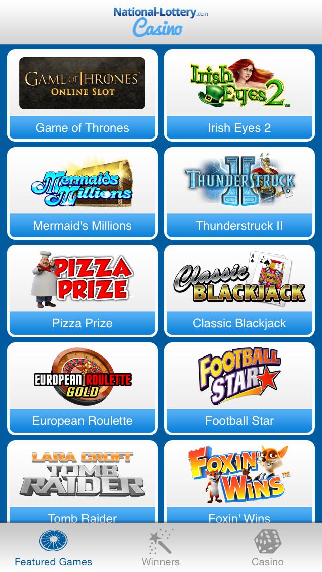 National-Lottery.com Casino screenshot two