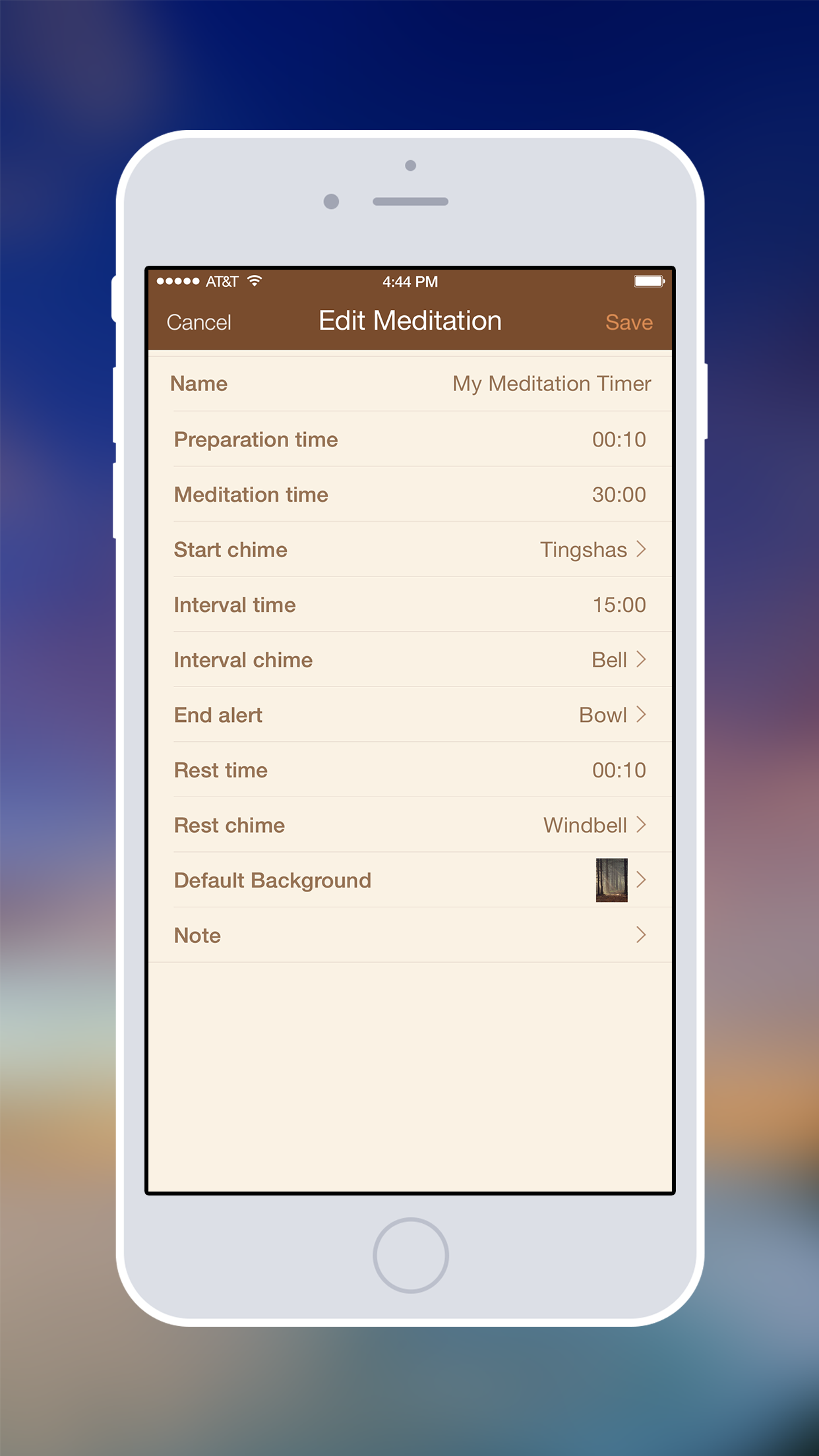 Meditation Timer - Simple Insight and Zen Timer Screenshot