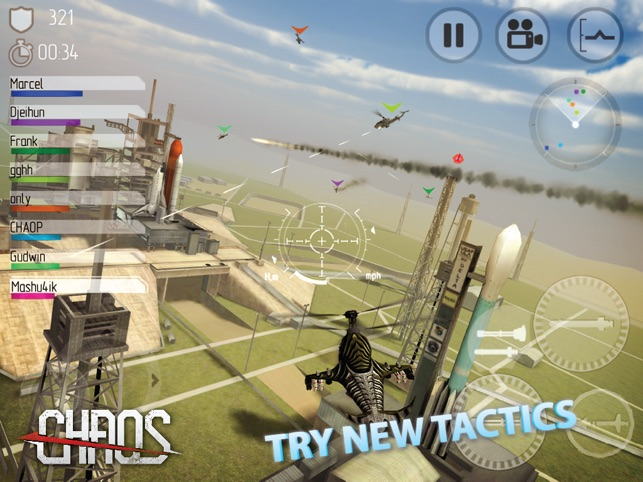 CHAOS Combat Copters -­‐ #1 Multiplayer Helicopter Simulator 3D Screenshot