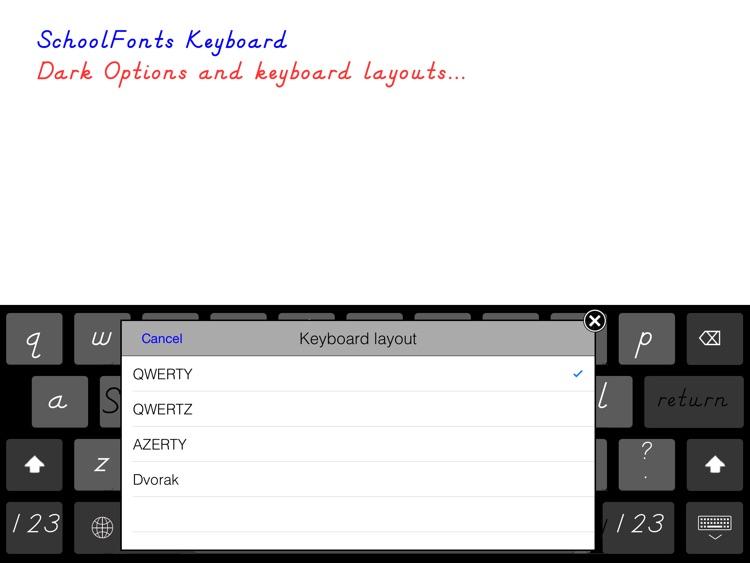 SchoolFonts Keyboard - Lowercase and Uppercase screenshot-4
