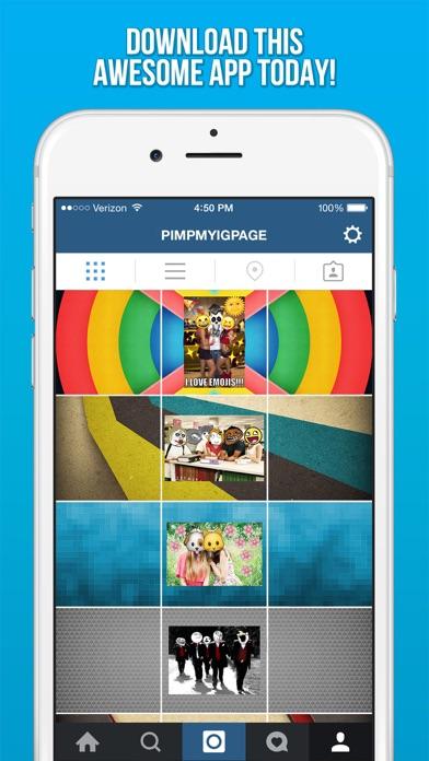 Awesome Background Banner Maker for Instagram - Get More Likes On Your IG Profile Page Photos - 窓用