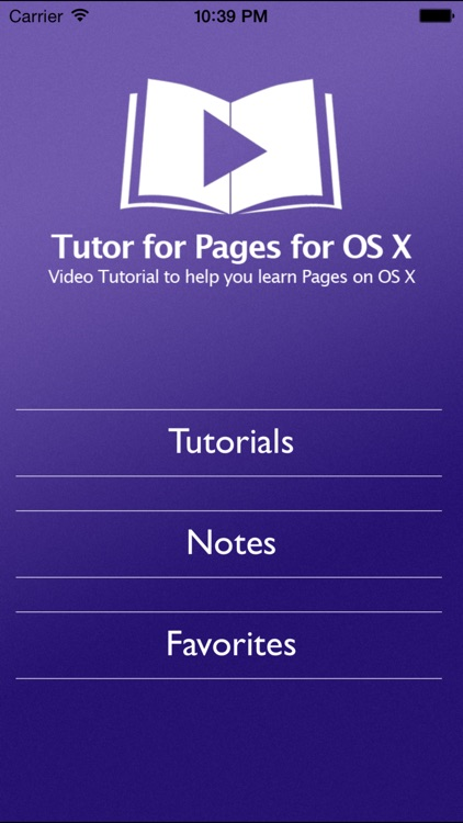 Tutor for Pages for OS X