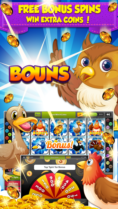 Yo Yo Honey Birds Slots - 777 Las Vegas Style Slot Machine screenshot three