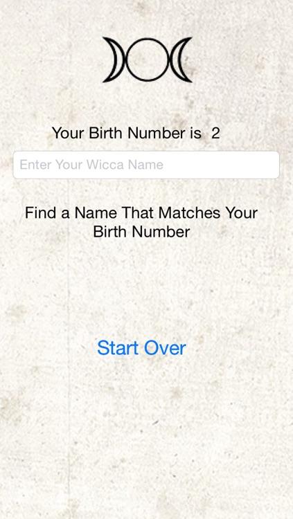 Wicca Name