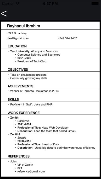 Resume Creator Pro screenshot-4