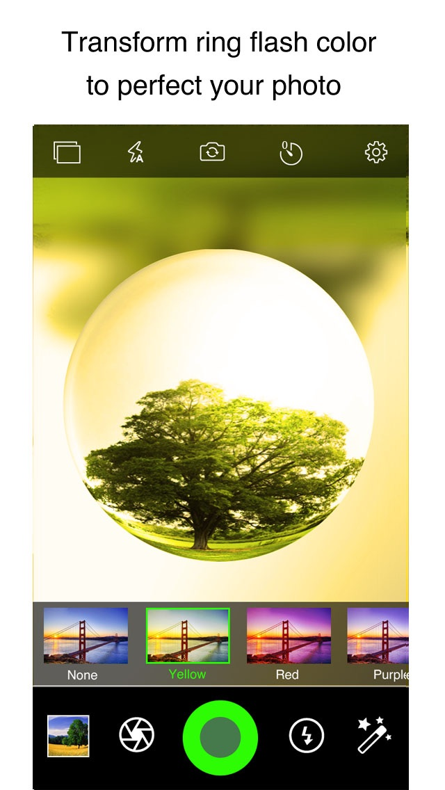 download CrystalCam - Retro Style Camera with Crystal ball Len, Fisheye, Crystal Scenes and Color Flashlight apps 1