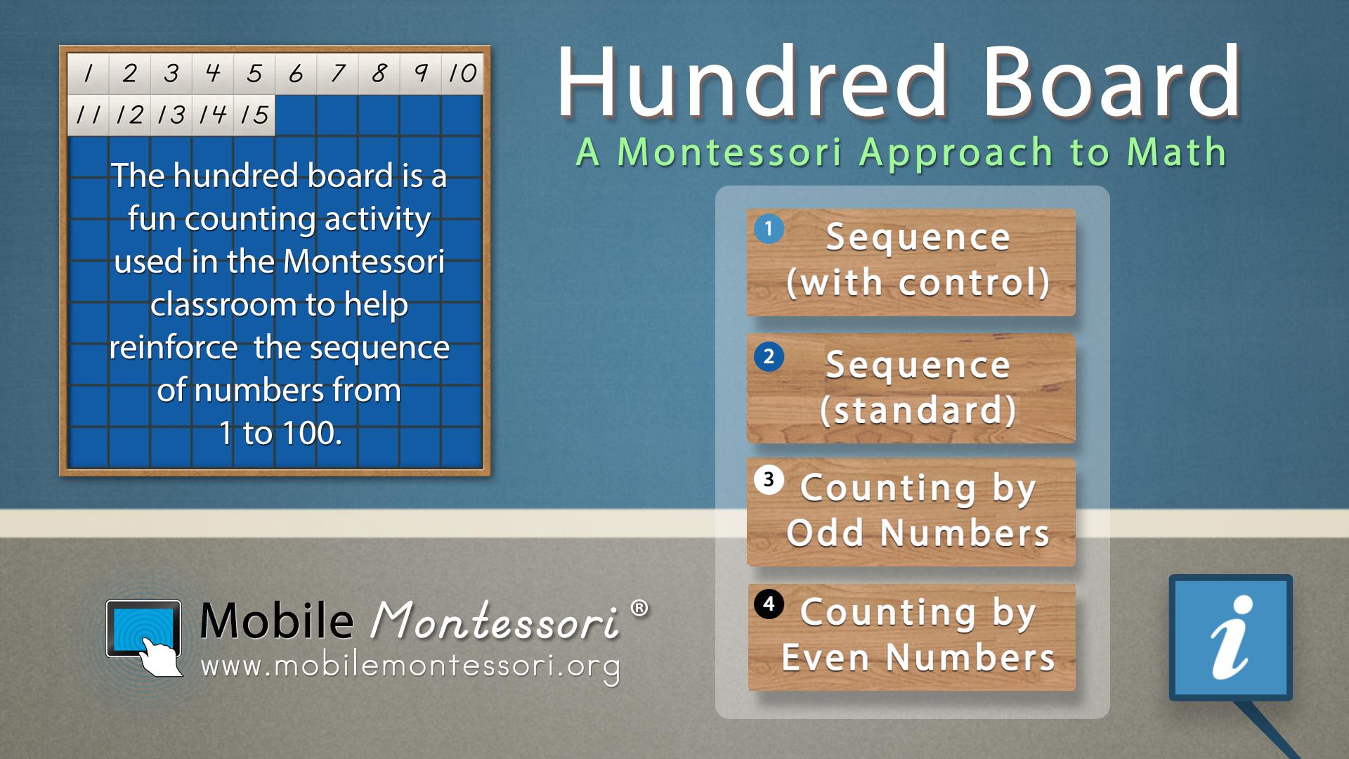 Hundred Board - Math by Mobile Montessori screenshot 1