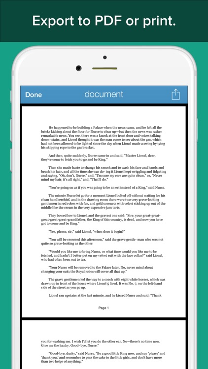 My Writing Desk for iPhone -The Perfect Document Writer & Text Editor with Google Docs™ Sync screenshot-4