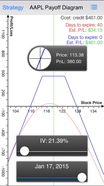 Strangle Pro - Options Strategy Calculator / Chart with Live Options Chain and Real Time Stock Quote screenshot-3
