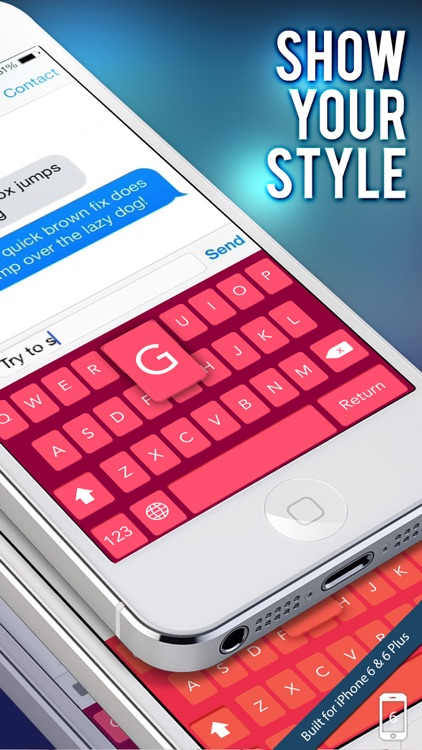 Keys on Fleek for iPhone - Customize your keyboard with colorful themes