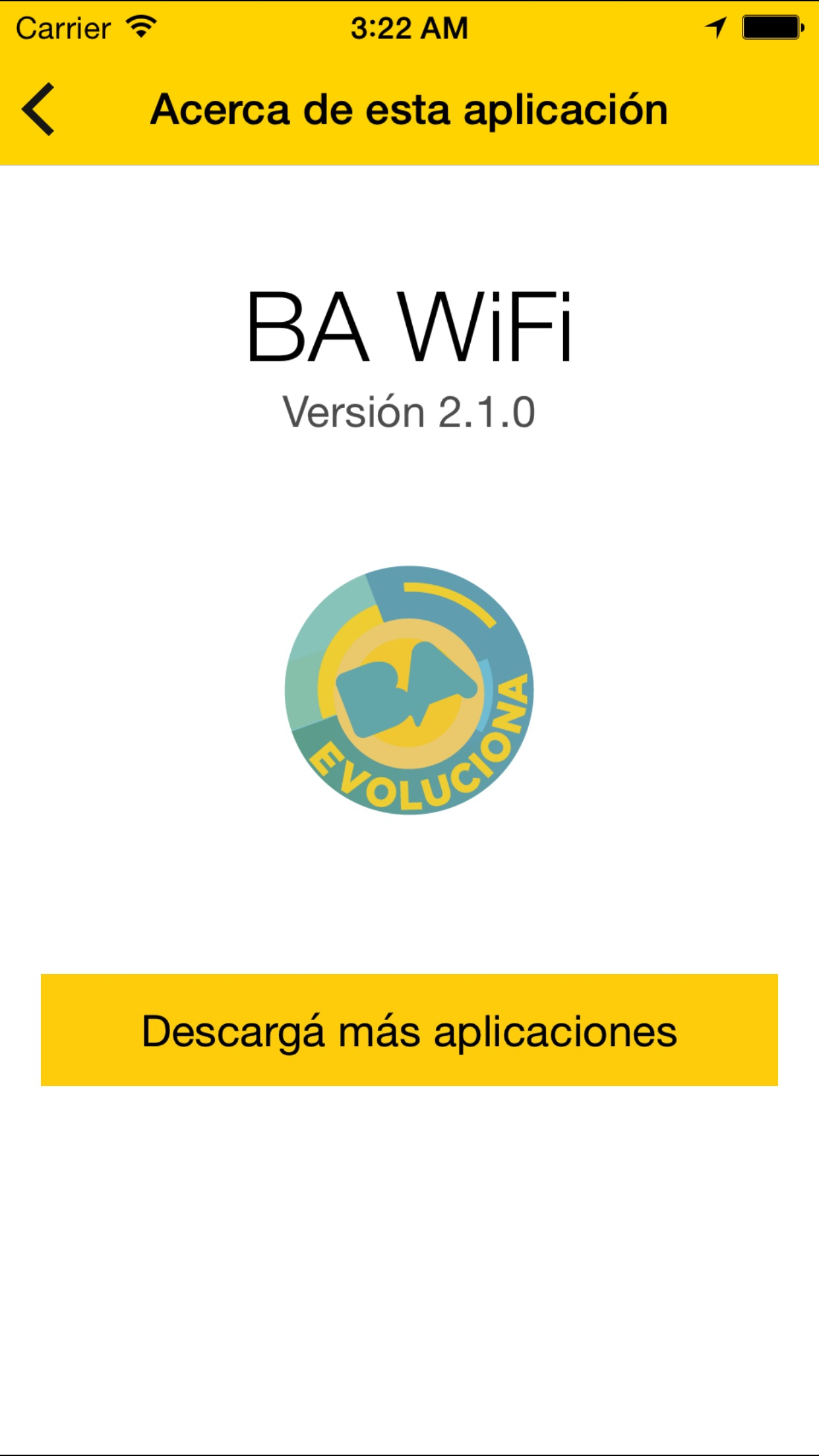 Screenshot do app BA Wifi