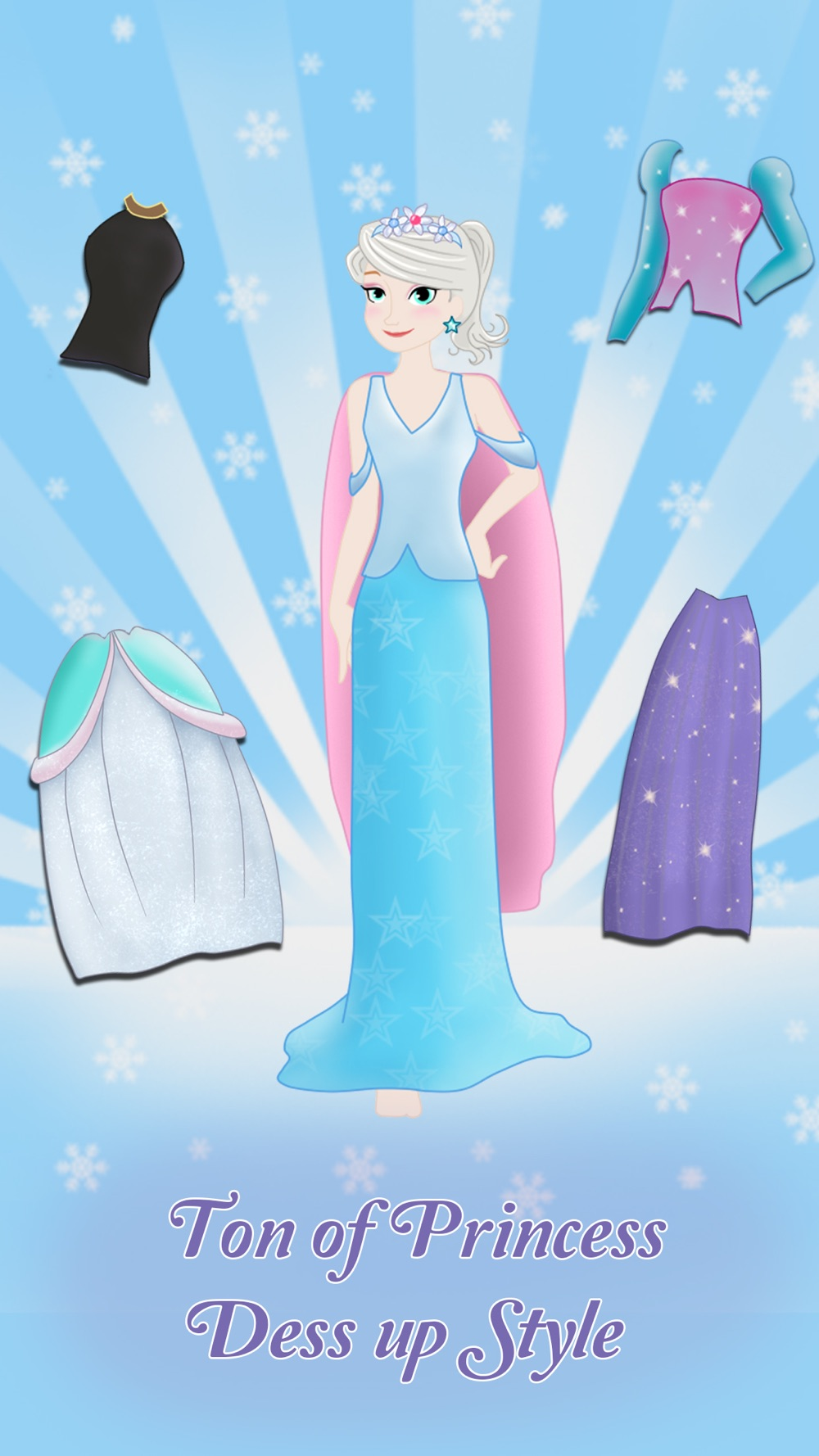 Princess Frozen Dress up and makeover beauty salon for girls hack tool