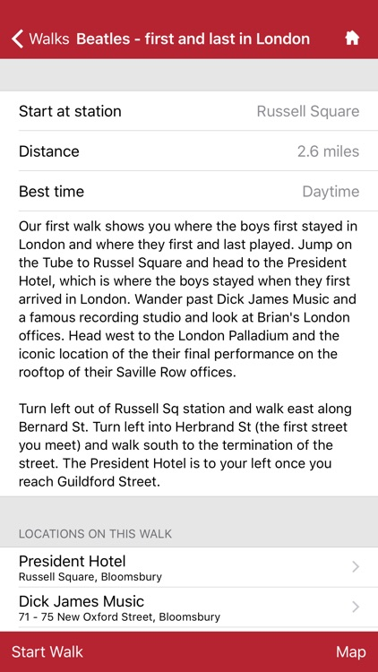 London Walks - the Beatles edition