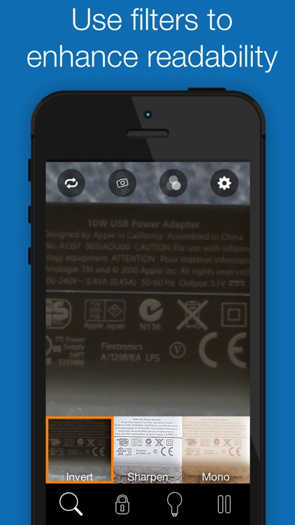 BigMagnify Free - Zooming Magnifier and Mirror with Flashlight screenshot-3