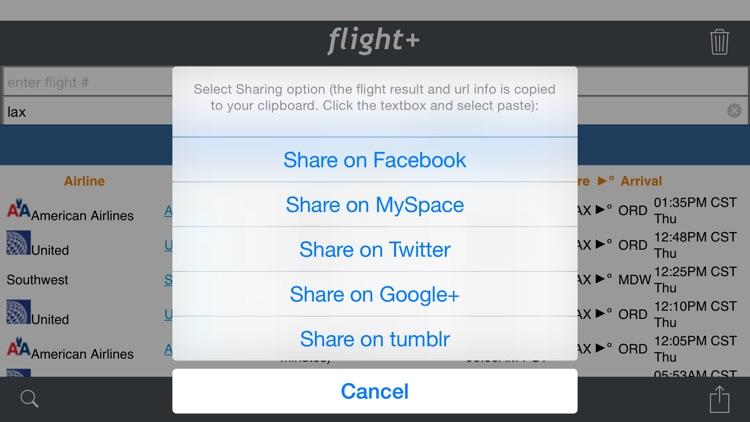 flight+: Flight Tracking & Information screenshot-3