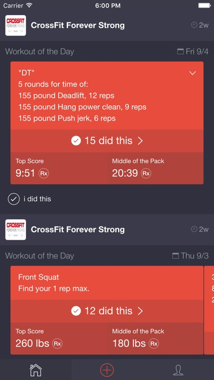 CF Whiteboard - Workout Tracking for CrossFit