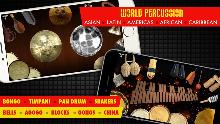 Drums XD FREE - Studio Quality Percussion Custom Built By You! - iPhone Version screenshot-3