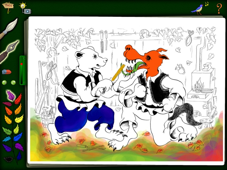 Mother and the Wolf - Kids Coloring Book - FREE screenshot-3