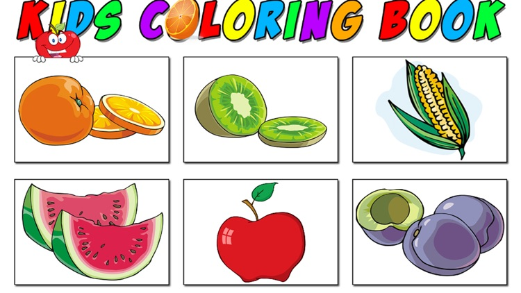 Color The Fruits And Vegetables Coloring Pages
