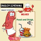Food and drink English learn icon