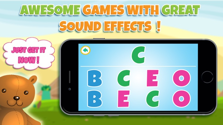 Learn alphabet and letter - ABC learning game for toddler kids & preschool children screenshot-3