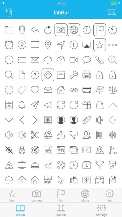 TabBar and Toolbar Icon Set