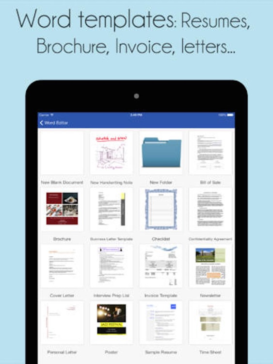 Quick Docs Lite - Office Suite for PDF, Quickoffice, Microsoft Word and Class Notes edition screenshot-3