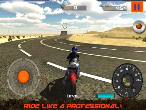 Crazy Motorcycle Stunt Ride simulator 3D – Perform Extreme Driver Stunts with Motor Bike on Dirt-ipad-2