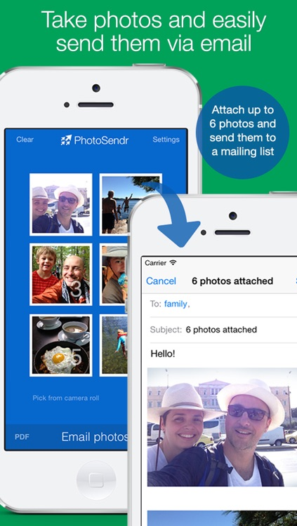 PhotoSendr: send photos via email to a mailing list