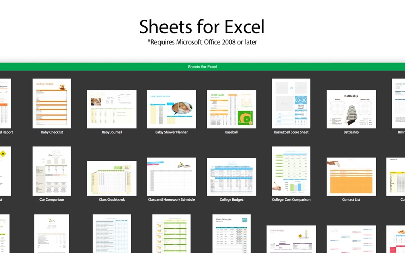 Sheets for Excel Screenshot