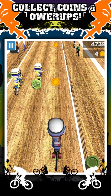 3D BMX Bike Racing Game for Teens by Impossible ATV Race Challenge Games FREE screenshot-3