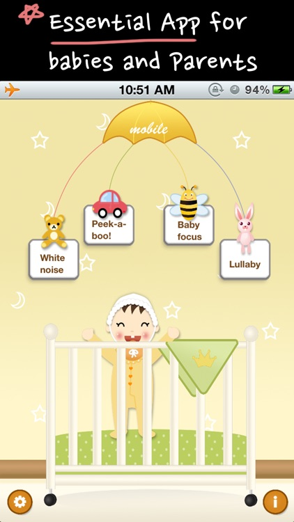 Baby white noise and lullabies nurery rhymes (crying baby sleep trainer and rattle) screenshot-1
