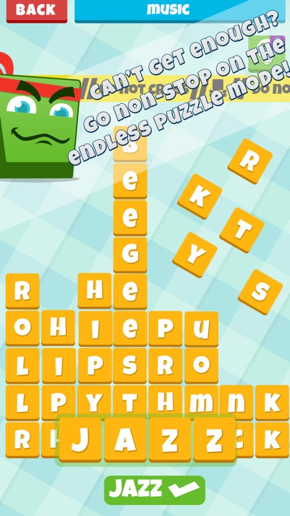Letter Crush for Fun Word Puzzle and Crossword Addicts