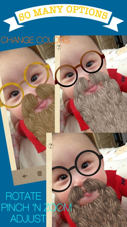 StacheTastic! Art of The Mustache Beard Photo Sticker Pic Booth FREE screenshot-1