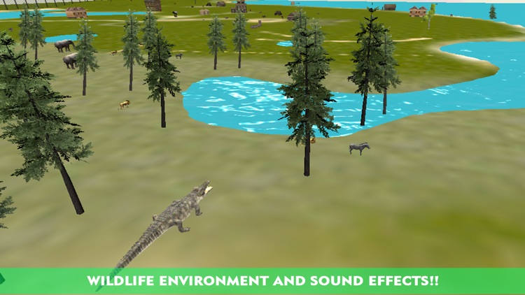 Crocodile Attack Simulator 3D – steer the wild alligator and hunt down farm animals screenshot-2
