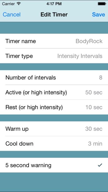 Fitness Interval Timer screenshot-4