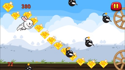 Aaah! It's Flappy the Crazy Rabbit Vs Angry Clumsy Bombs! HD Free screenshot four