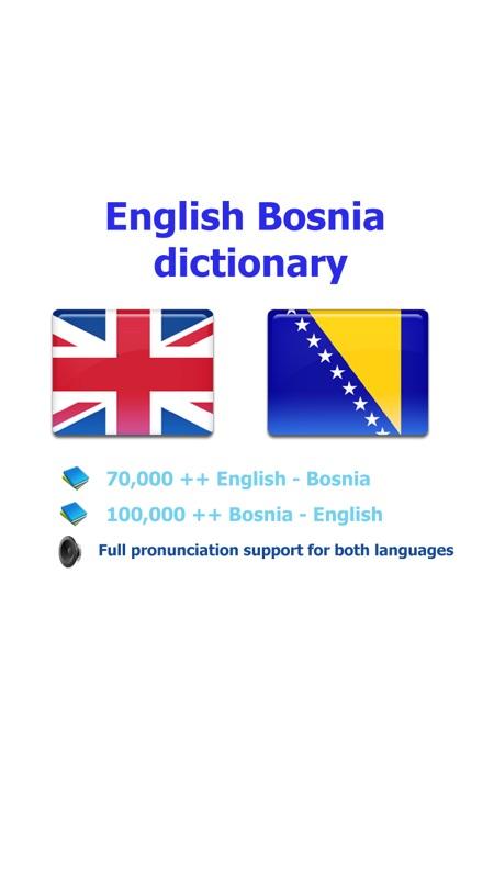 English Bosnian Best Dictionary Engleski Bosna Najbolji