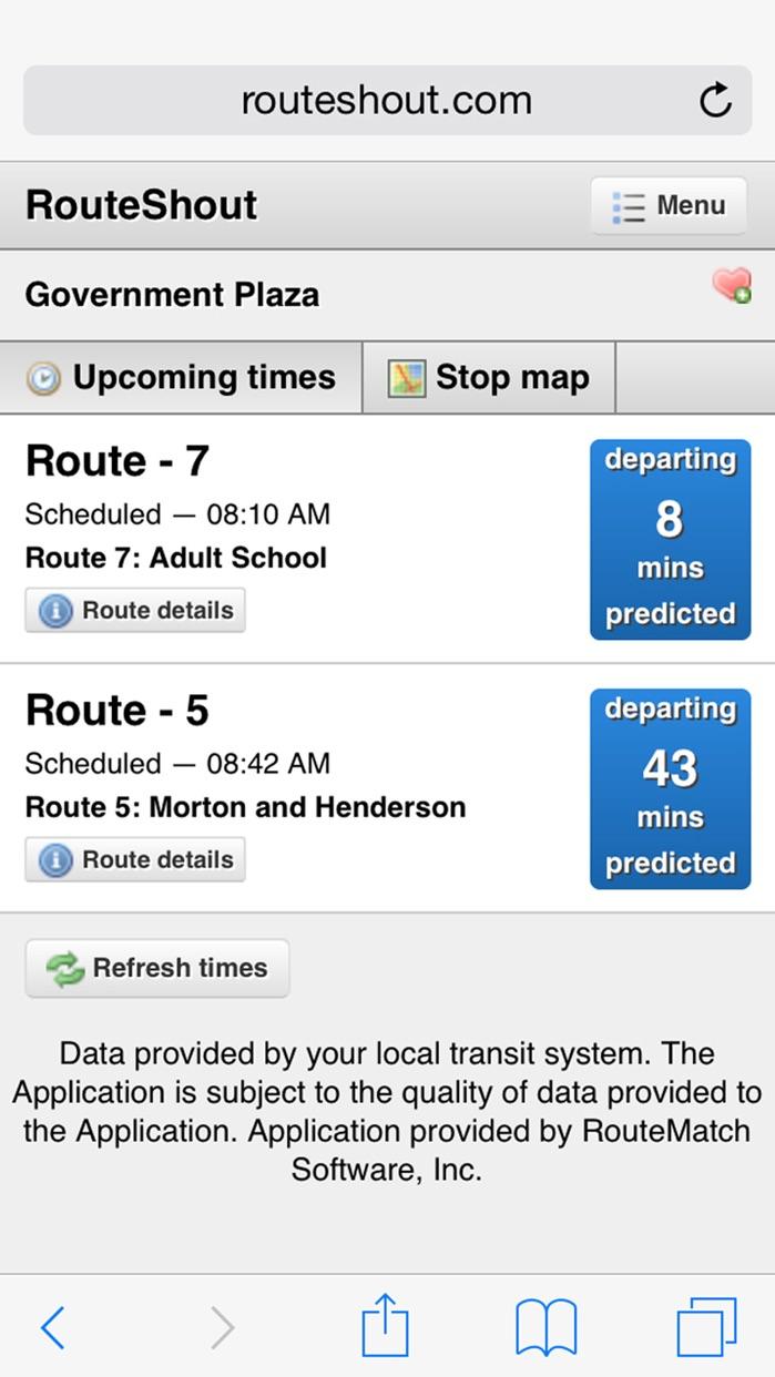 RouteShout Screenshot