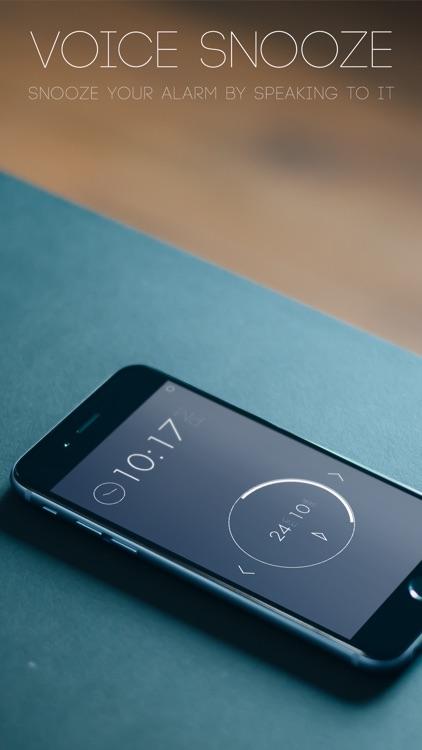 Snoozy - Alarm Clock with Voice Snooze screenshot-0