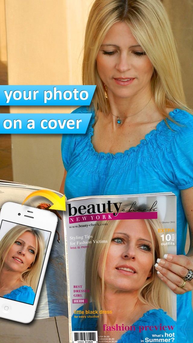 Photo2Cover - Create your own magazine cover screenshot one