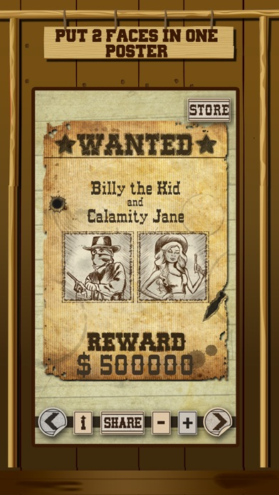 Wild West Wanted Poster Maker - Make Your Own Wild West Outlaw Photo Mug Shots screenshot two