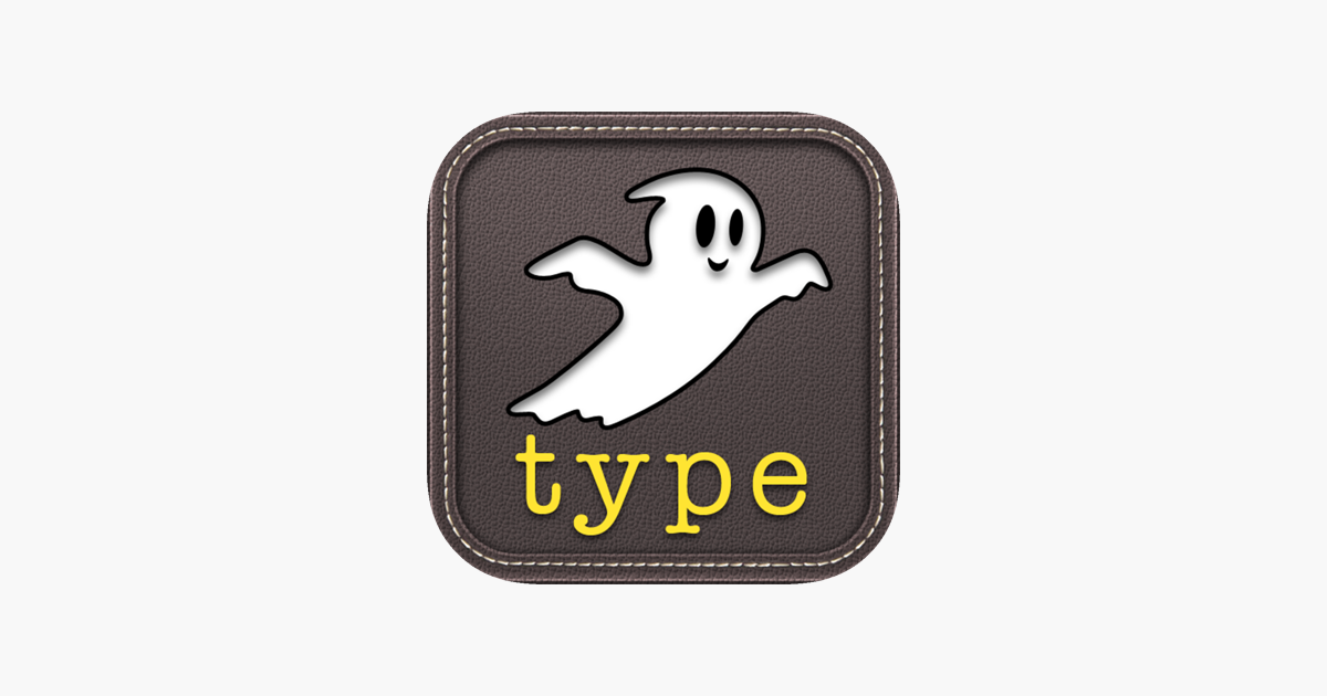 ‎Ghost Type - a typing tutor to master your iPad typing skills