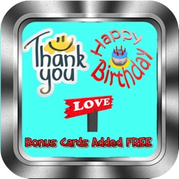 Thank You, Birthday, Love Cards & More Greeting Cards & Wishes:  DIY & Choose Available Cards