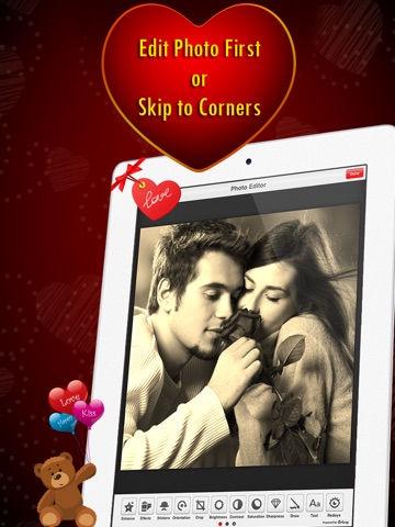 Corner My Photos - Valentines Edition - Add beautiful romantic and heartfelt photo corners to your pictures-ipad-2