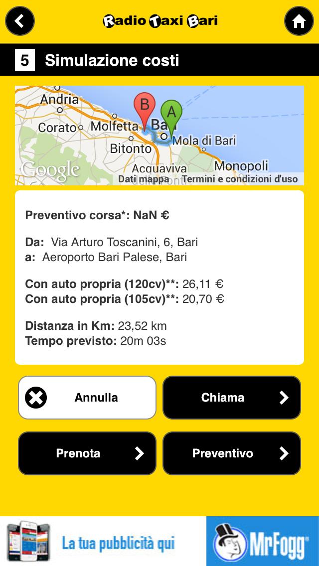 Screenshot of RadioTaxiBari1