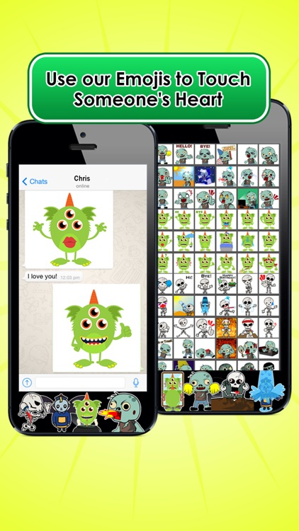 Emoji Kingdom 13  Free Skull Halloween Emoticon Animated for iOS 8 screenshot-4